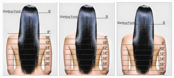 Hair Extension Length Options 8