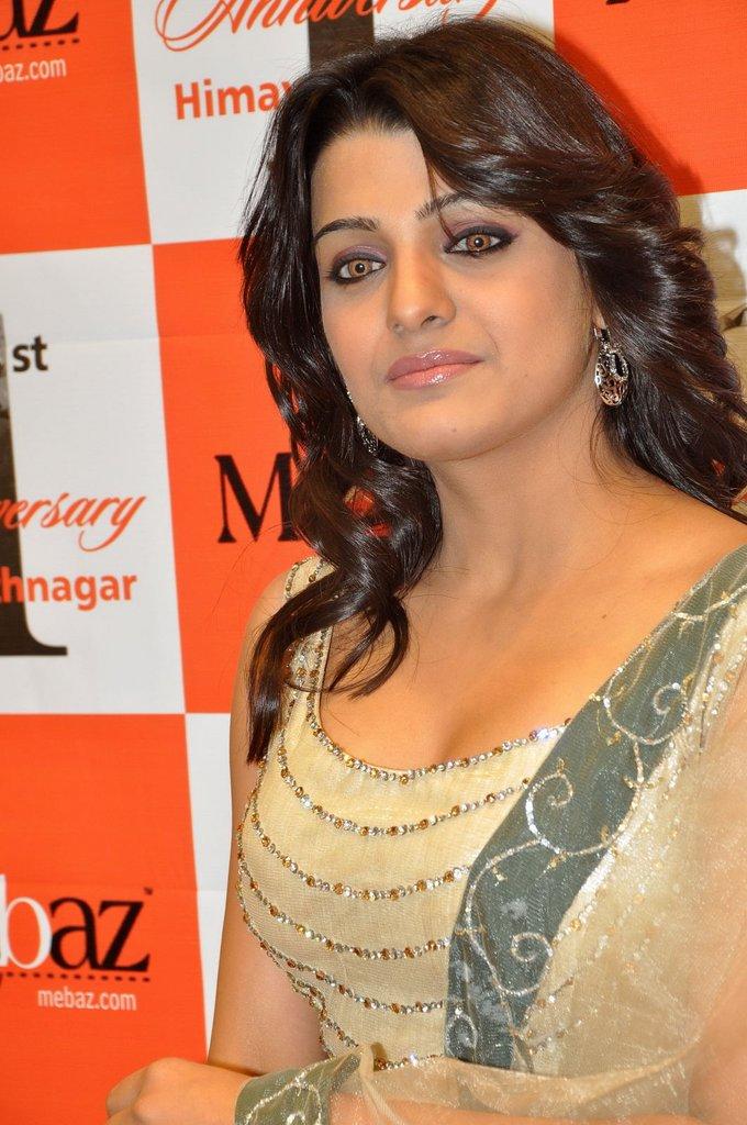 Telugu Actress Tashu Kaushik Hot Saree Stills