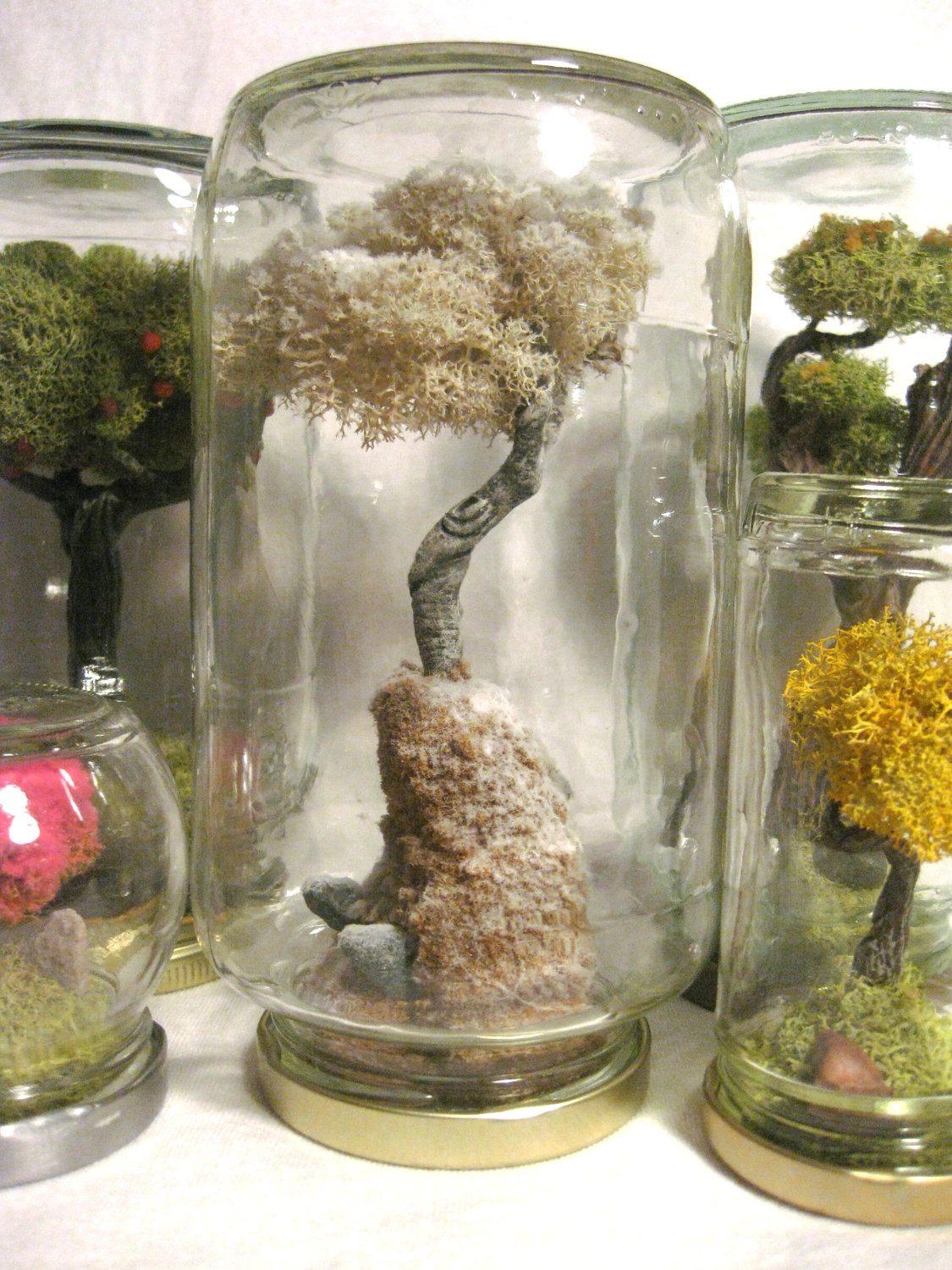 First Snow  Terrarium In A Jar Terrariums Appeal To Me, Whether The  Fillings Are Real Or Fake Flipping The Jar Upside Down Makes Me Imagine  Totally New