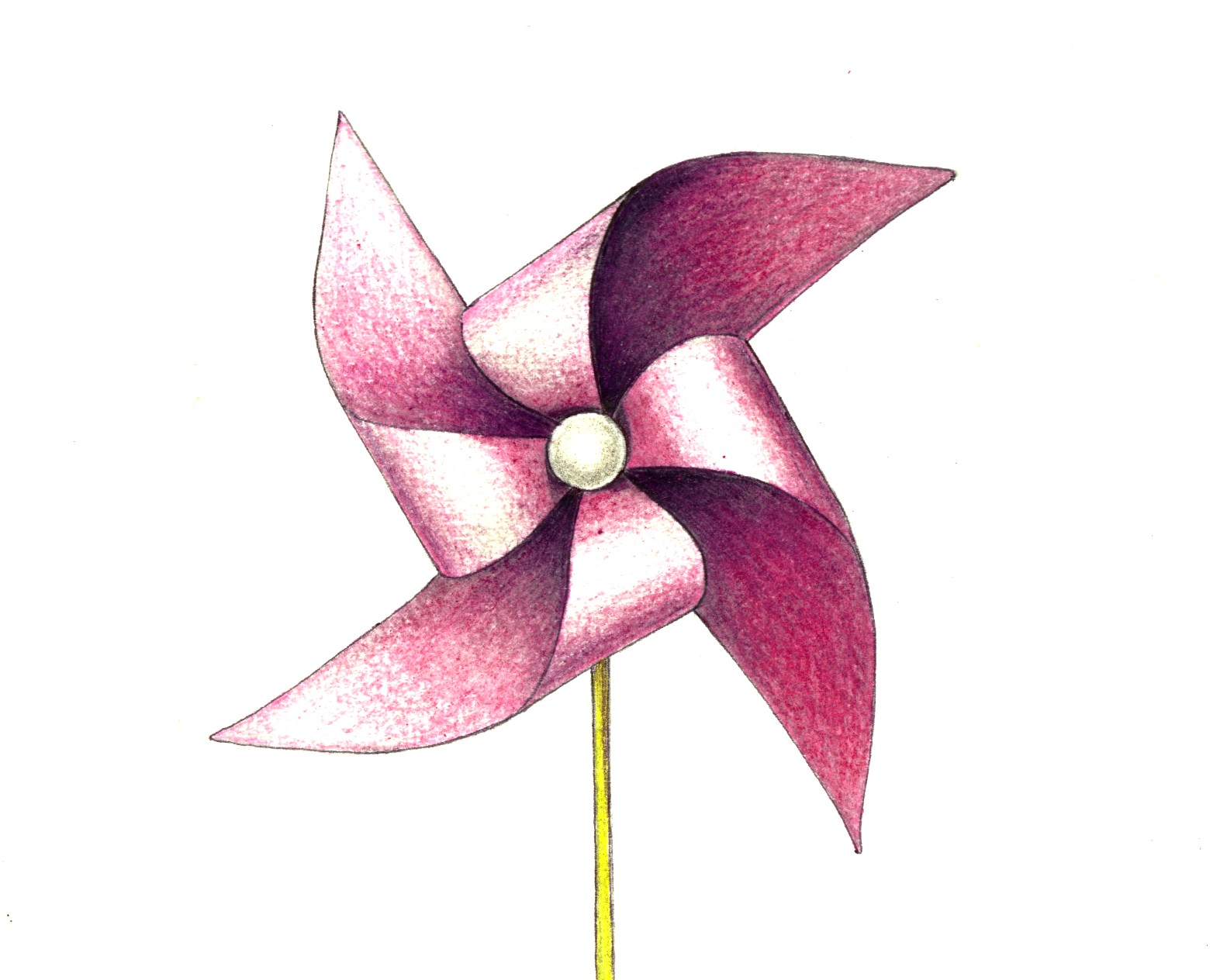 January 10, 2012 - Pinwheel : A Drawing a Day for a Year