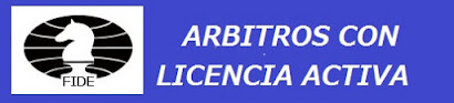 Arbitros de Ajedrez con LICENCIA  FIDE  (Dar clic a la imagen)