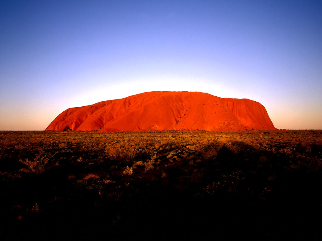 Ayers Rock (Uluru) Australia  city images : Uluru Ayers Rock Australia. Autumn: point of no 23