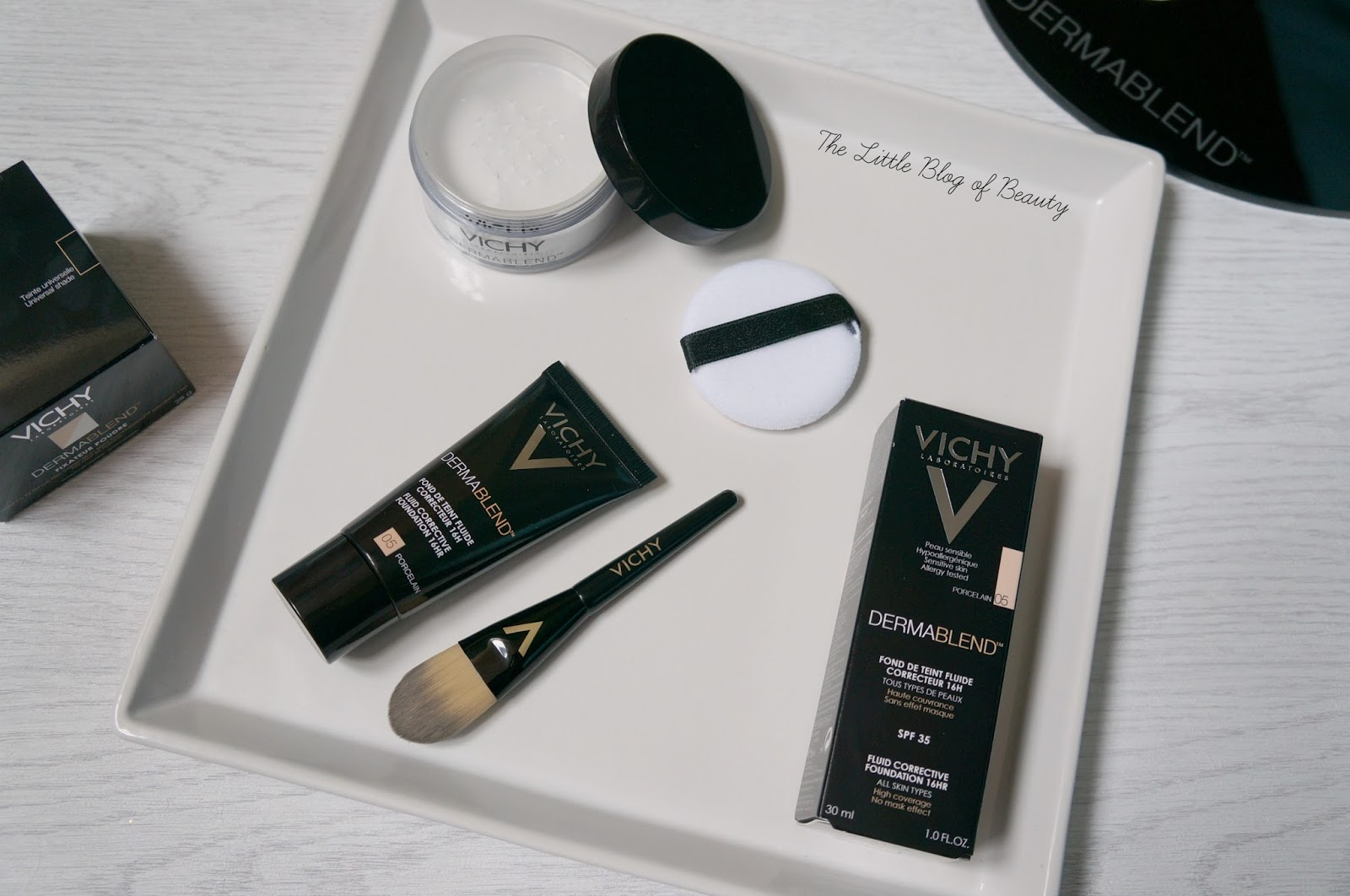 Vichy Dermablend Corrective fluid foundation and setting powder ...