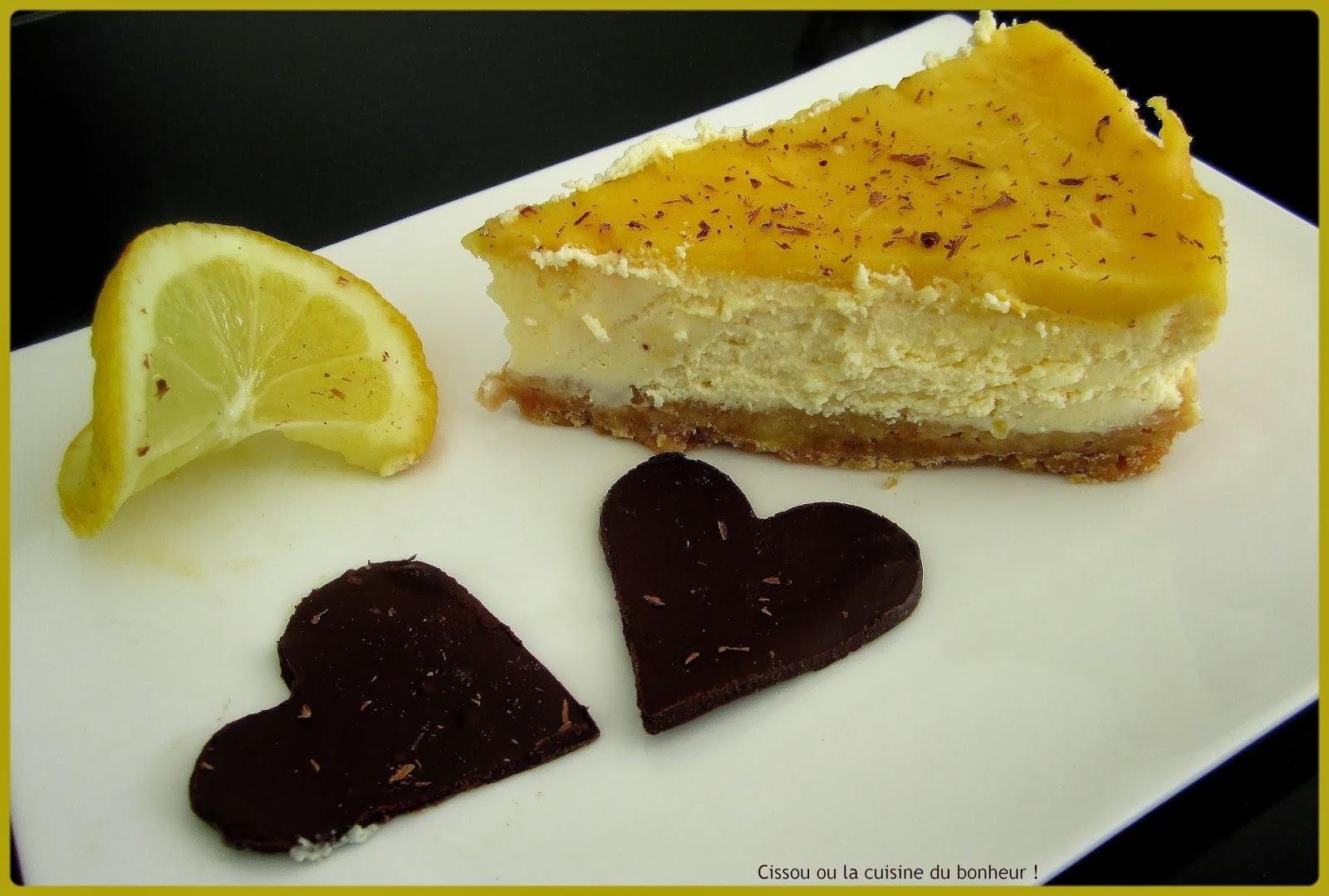 Cissou ou la cuisine du bonheur cheesecake citron et gingembre - Du bonheur dans la cuisine saint herblain ...