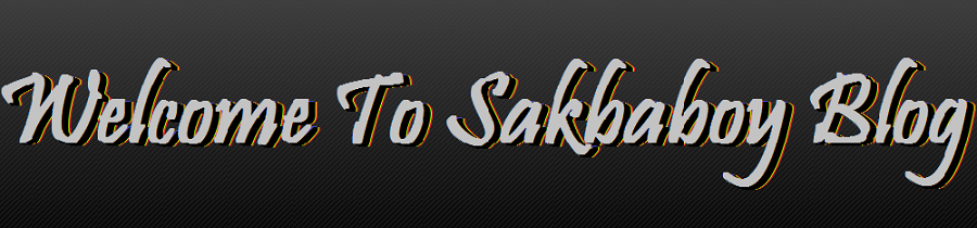 Welcome To Sakbaboy blog