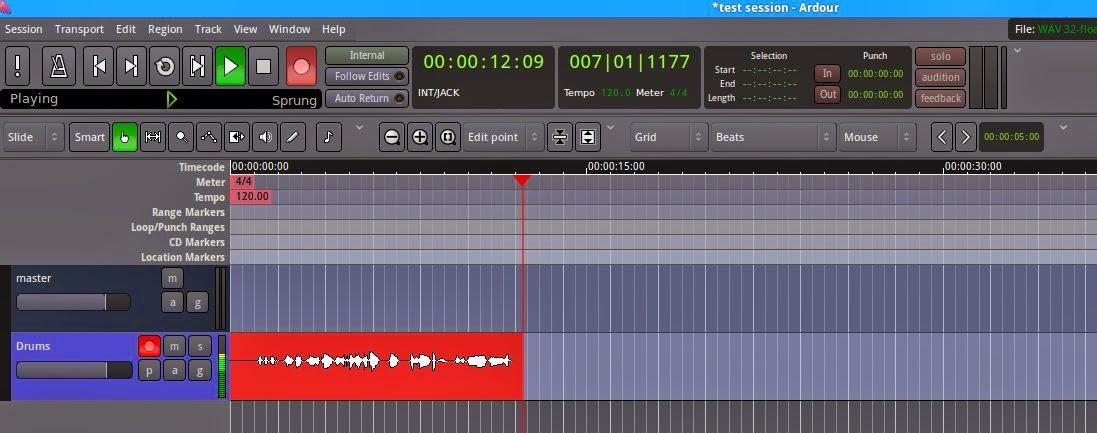 recording track