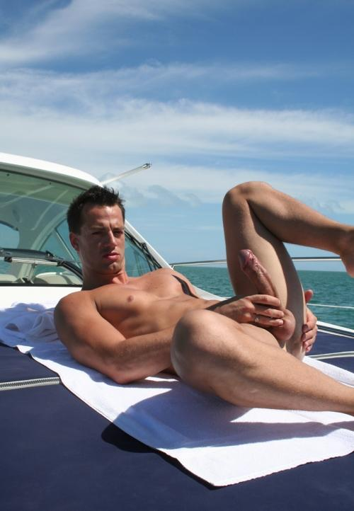 naked boys in boats