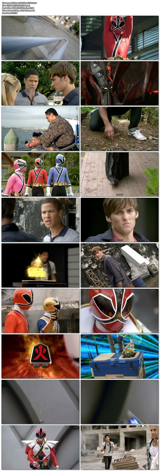 Screenshots Of Hindi Dubbed Show Power Rangers Samurai 2011 Season 01 Complete All Episodes 300MB 720P HD