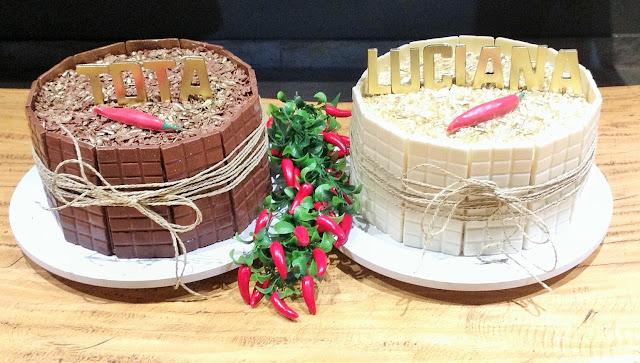 Baños Decorados Estilo Mexicano:brigadeiro e bolo brigadeiro branco, com recheio de beijinho decorados