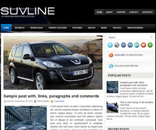 SuvLine Blogger Template