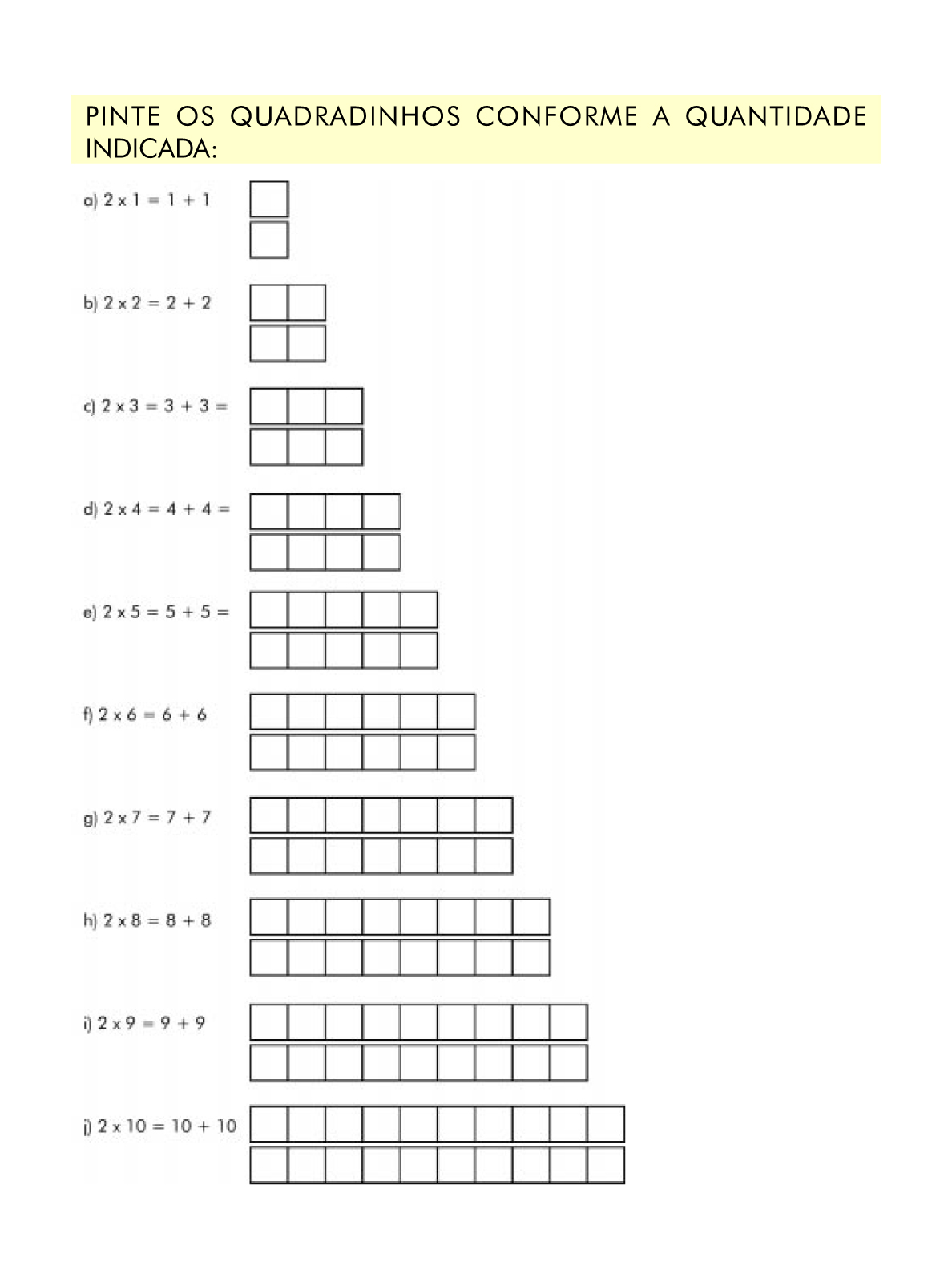 Muitas vezes Ensinando com Carinho: Atividade de Matemática 2º ano YE48