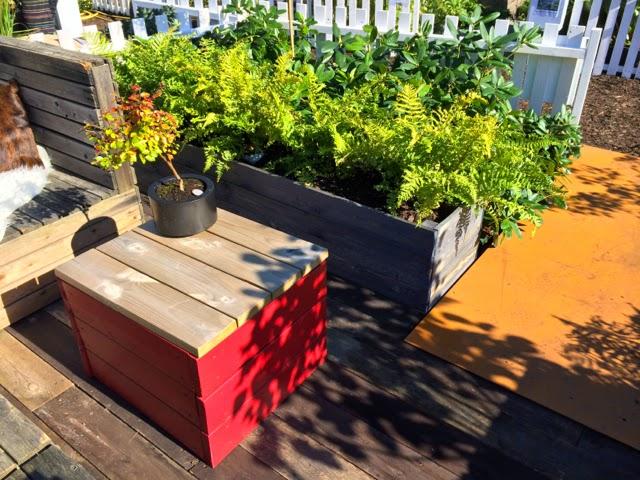 Måla sedan lådorna i en färg som passar till din trädgård och ...