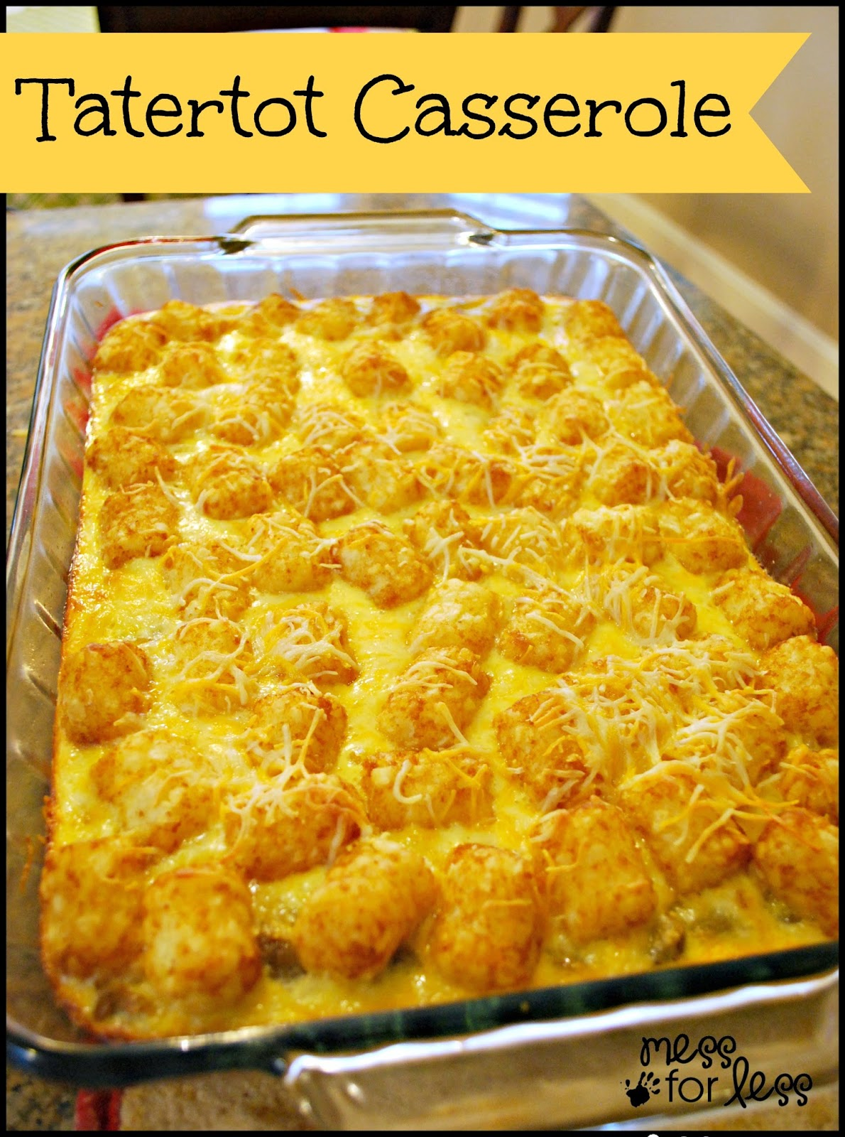 Tater Tot Breakfast Casserole - simple to make. I prepared it the ...