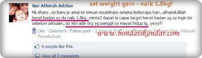 mealshake naik 1.8kg