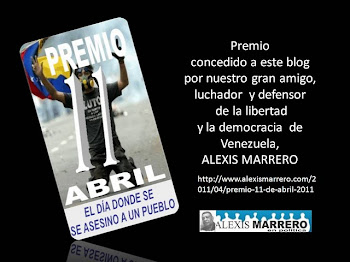 "BITACORA PARTICIPATIVA RECIBE EL ""PREMIO 11 DE ABRIL 2011"" DE PARTE DEL PERIODISTA DORIAN GARCIA"