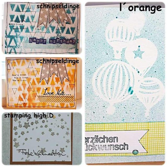 Material der Woche | www.danipeuss.de | Masks Schablonen für Karten