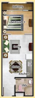Sorrento Oasis Pasig 1 Bedroom Unit, Condominium for sale in Pasig, Filinvest