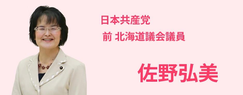 佐野弘美 - 前北海道議会議員 札幌市北区選挙区 日本共産党