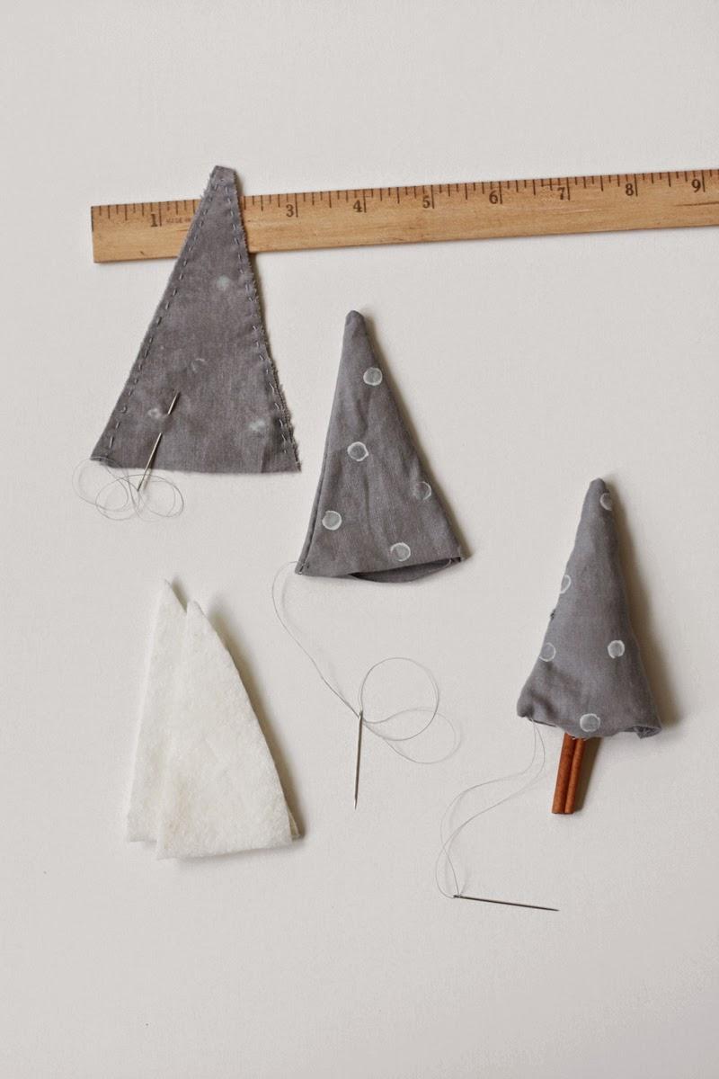 DIY, Arbol de Navidad con Tela y Canela