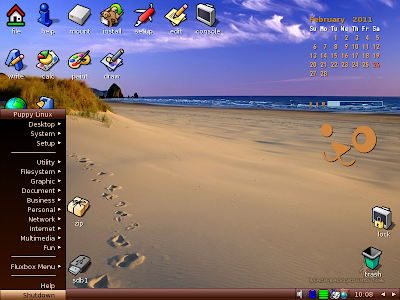 Latest Puppy Linux Screenshot