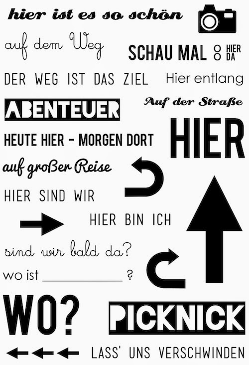 "Klartext-Stempelset ""HIER"" von www.danipeuss.de"