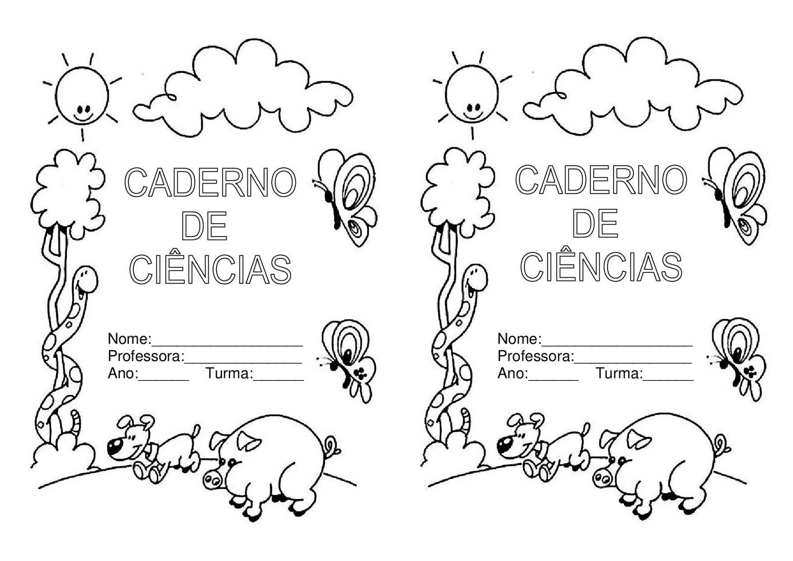 Para Elaborar As Capas De Caderno  Utilizei Imagens E Bordas Dos