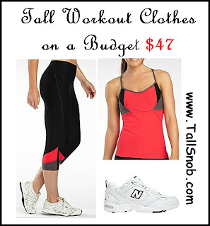 womens tall workout clothes on a budget