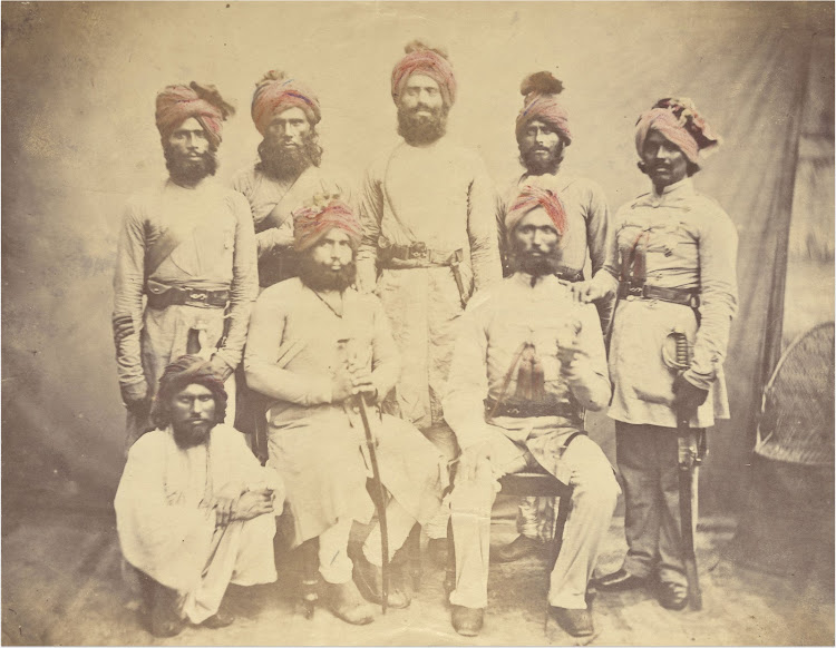 Eight Faithful Native Officers to British in Indian Mutiny of 1857