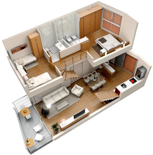 Casas fachadas planos duplex for Hacer planos 3d