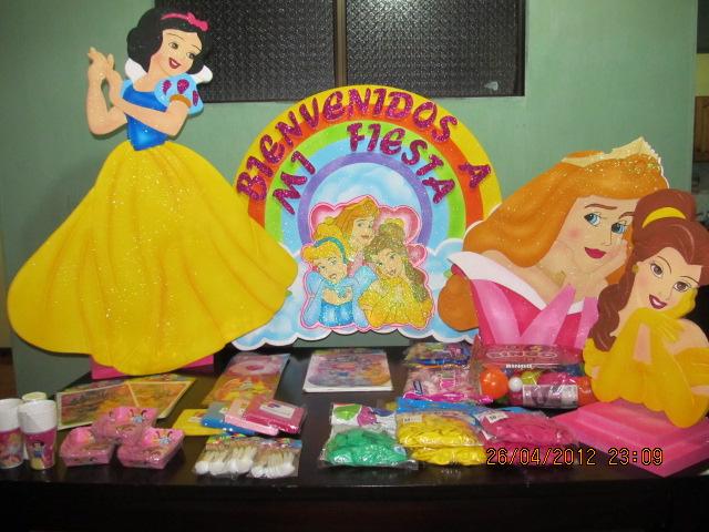 insumos fiesta tematica princesas de disney