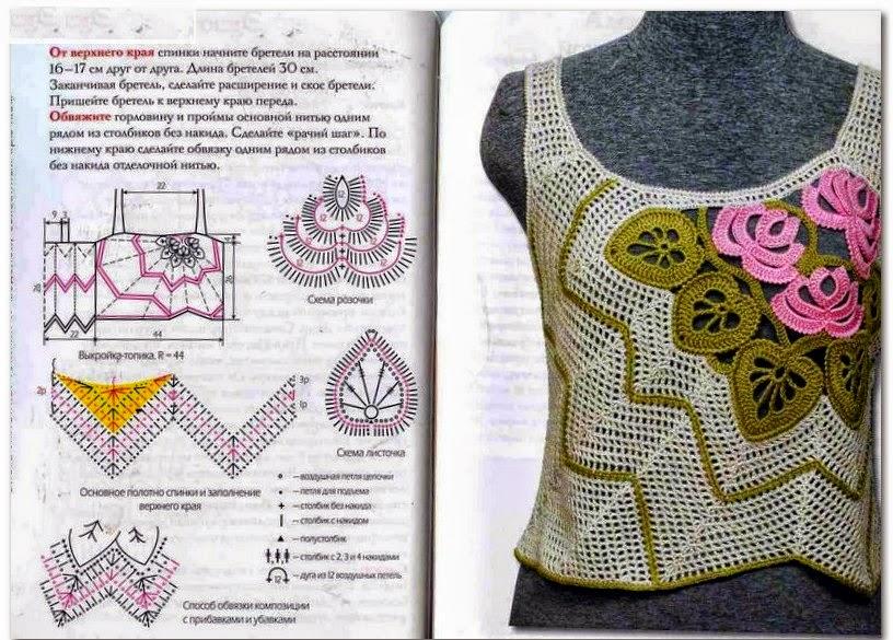 Remera sin mangas con diseño exclusivo tejida con ganchillo ...
