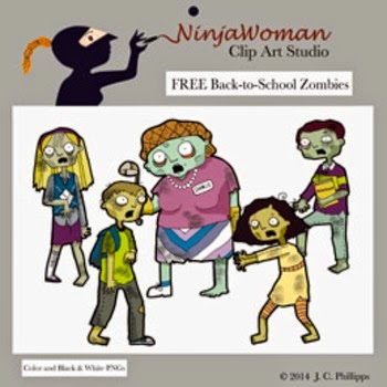 Free School Zombies Clipart