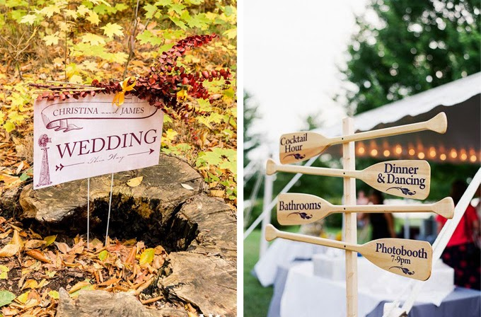12 Delightful Ways To Use Wedding Signs Throughout Your Wedding - Let Guests Know Where To Go
