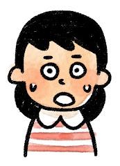 女の子の表情のイラスト(驚き)