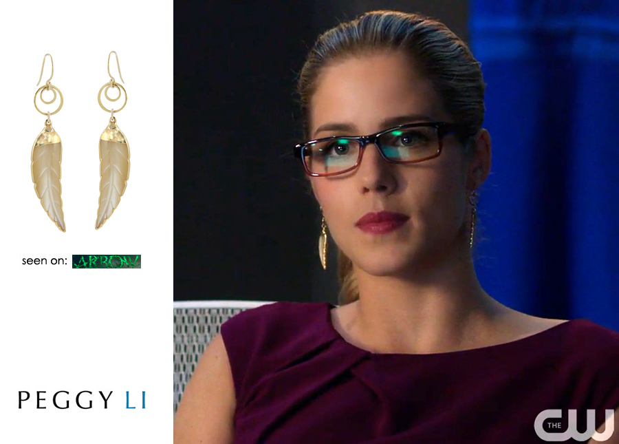 Felicity Smoak Earrings Leaf
