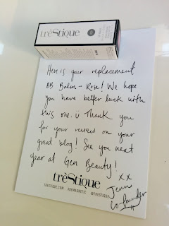 trèStiQue handwritten note and shiny lip balm