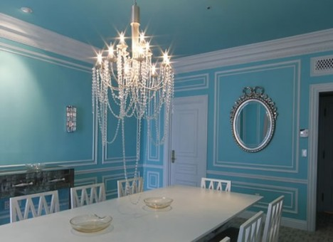 New england fine living can a party dress inspire a room for Tiffany d dining room