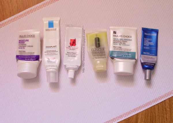 empties skincare Clinique Paulas Choice La Roche-Posay Alpha Hydrox