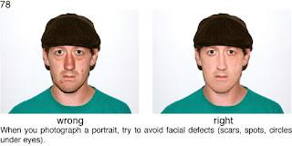 Совет 78. При портретной съемке необходимо убрать с лица снимаемого  точки, прыщи и другие объекты не украшающие  снимаемого