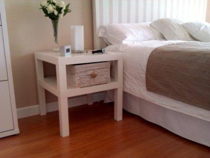 Bricolaje para transformar mesa lack de ikea en mesa de noche