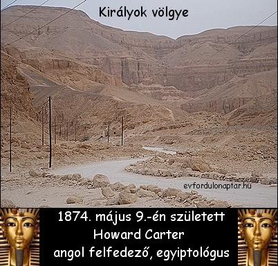 Howard Carter angol egyiptológus