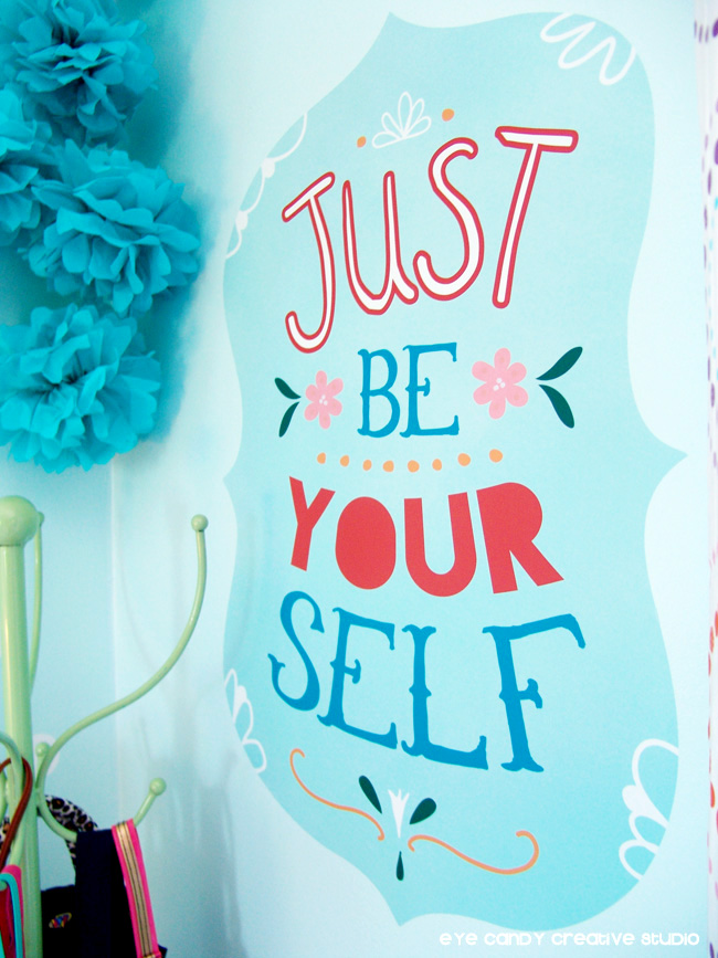 just be yourself, wallternatives vinyl, inspiration for chalkboard design