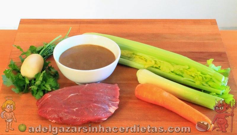 CON VIDEO. Receta saludable de CALDO DE CARNE baja en calorías y colesterol, apta para diabéticos. COCINA FÁCIL Y SANA.
