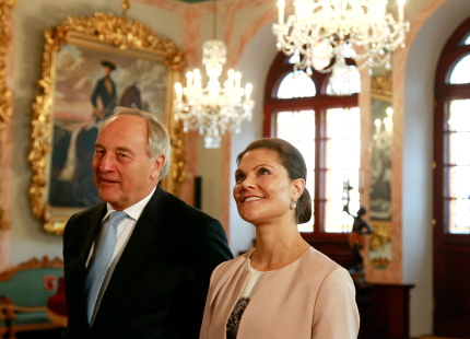 During a meeting with the visiting Crown Princess of Sweden Victoria today