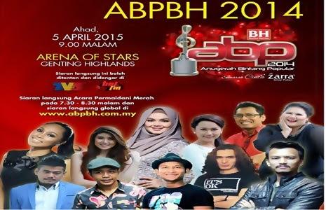 Keputusan Pemenang Anugerah Bintang Popular Berita Harian, ABPBH 2014