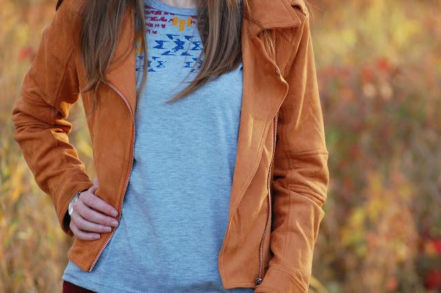 zamszowa kurtka | suede jacket