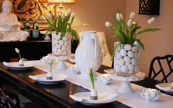 Ideias para enfeites de mesa ask mi for Black and white tablescape ideas