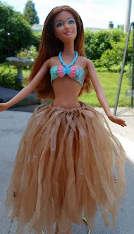 recycled plastic bag hula skirt-tutorial