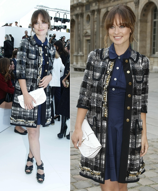 mode style: Louis Vuitton SS12: Front Row Attendees Nicole ...