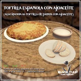 Tortilla española con ajoaceite
